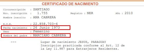 Certificado de nacimiento desde el registro civil