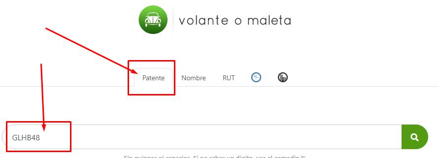 Rutificador de patentes en Chile