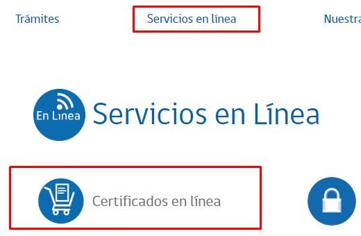 Servicios en linea para descargar certificado de nacimiento