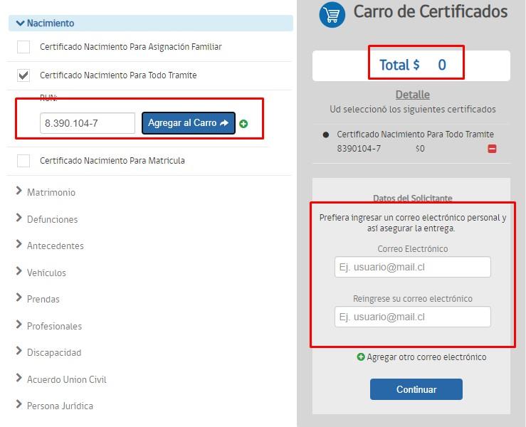 Descargar certificado de nacimiento