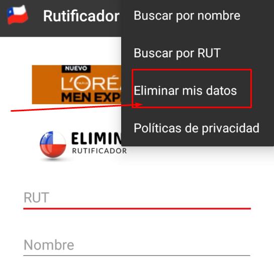 Eliminar datos de Rutificador