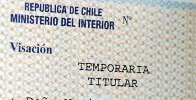 cancelar visa chilena