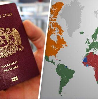 paises que solicitan visa a chilenos