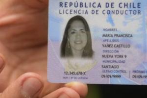canje de la licencia de conducir en chile
