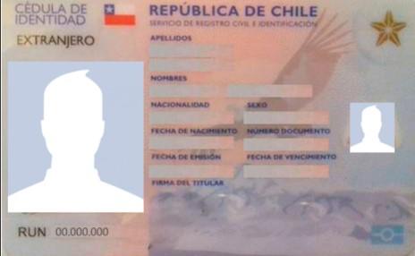 cédula chilena para extranjeros