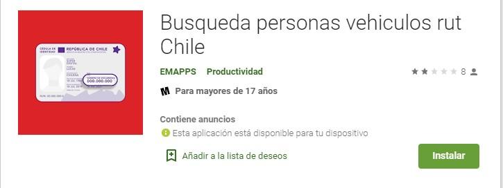 Búsqueda de personas en Chile por rut