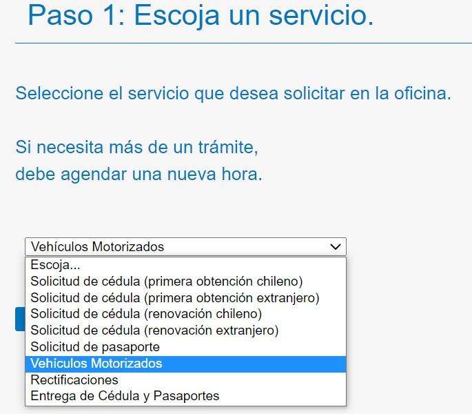 Pedir hora en el registro civil